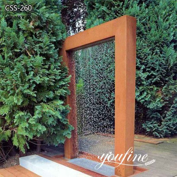 Outdoor Garden Corten Steel Water Fountain Sculpture for Sale