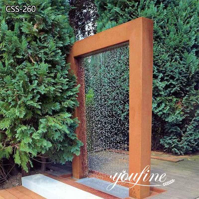 Outdoor Garden Corten Steel Water Fountain Sculpture for Sale CSS-260