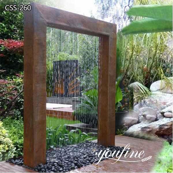 Outdoor Garden Corten Steel Water Fountain Sculpture
