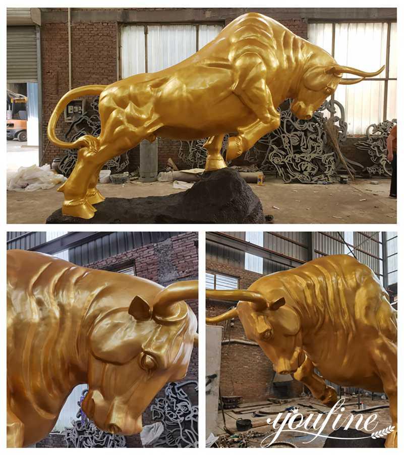 Outdoor Garden Large Bronze Bull Statue for Sale Landmark Decor