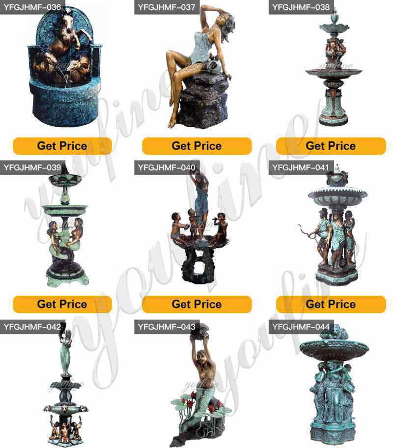 Outdoor Large Bronze Fountain Garden Decor for Sale