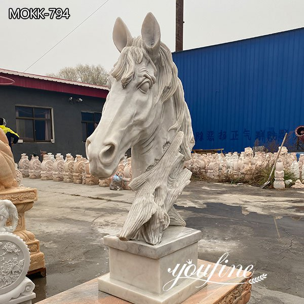 Outdoor Marble Horse Head Statue for Sale for Front door decoration