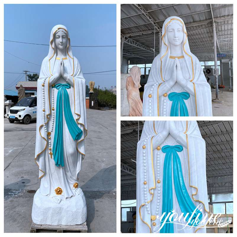 Outdoor our lady of Lourdes statue