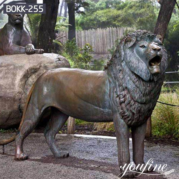 Theme Park Decoration Bronze Lion Statue for Sale BOKK-255