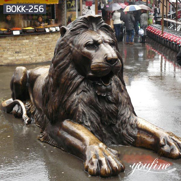 Shopping Street Decoration Bronze Lion Statue for Sale BOKK-256