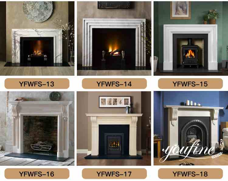 White Marble Fireplace Surround Indoor Decorations
