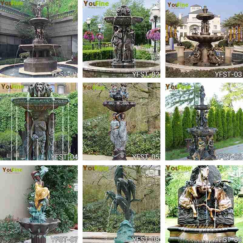 antique bronze statues fountain