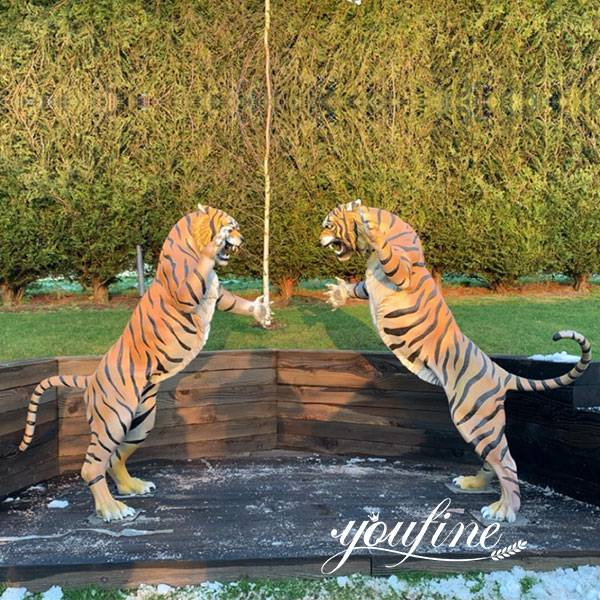 large bronze big tiger statue