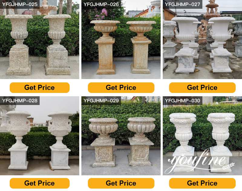 large outdoor marble planter for sale