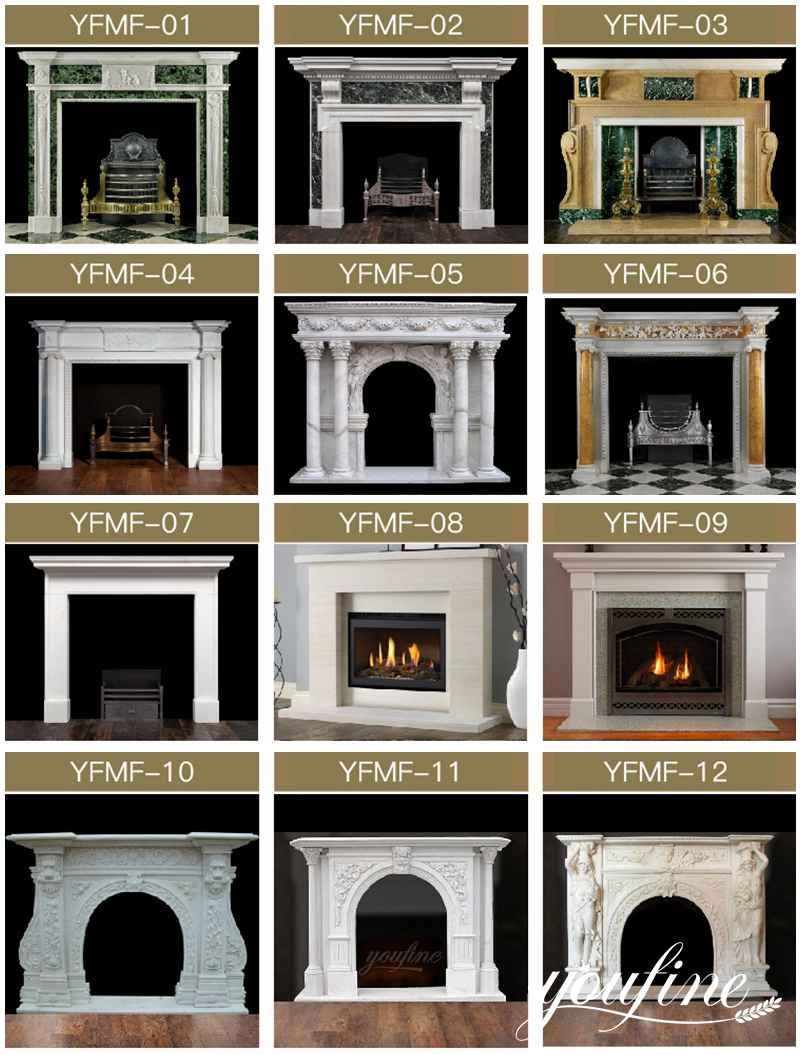 marble tile fireplace facing for sale