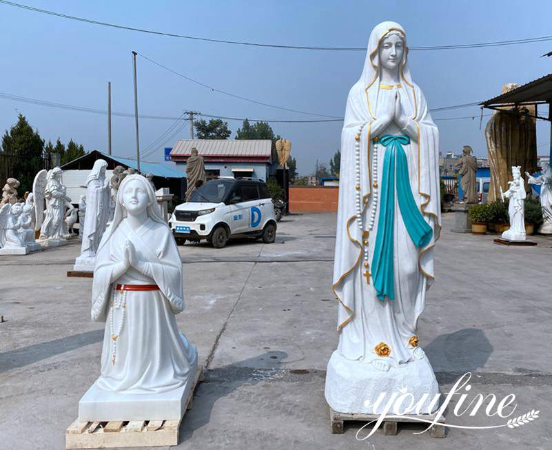 marble virgin mary statue