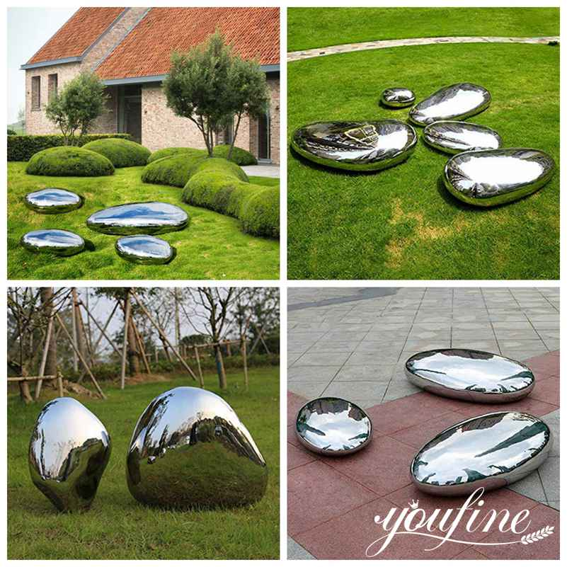 metal cobblestone sculpture