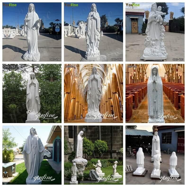 our lady of Lourdes garden statue