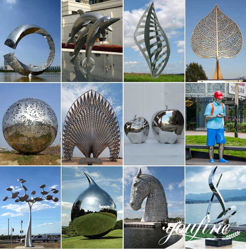 stainless steel garden sculptures for sale