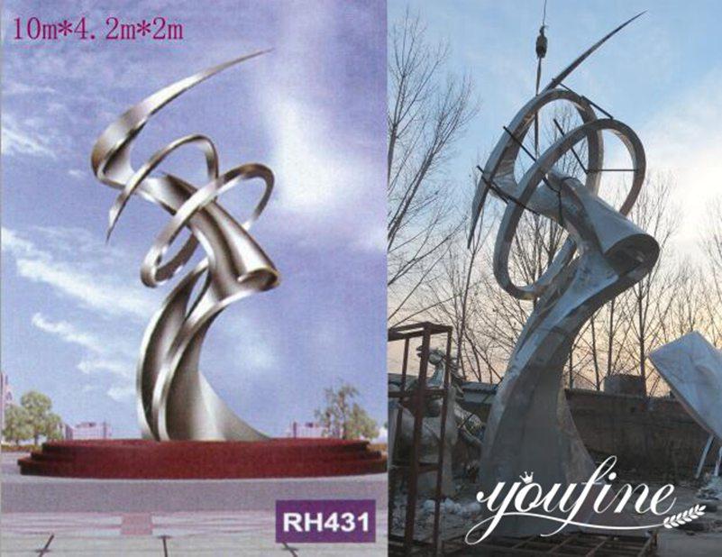 1modern large metal sculpture on sale