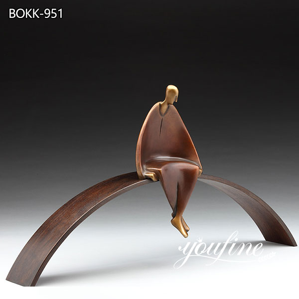 Abstract Figure Bronze Sculpture Meditation by Carol Gold for Sale BOKK-951