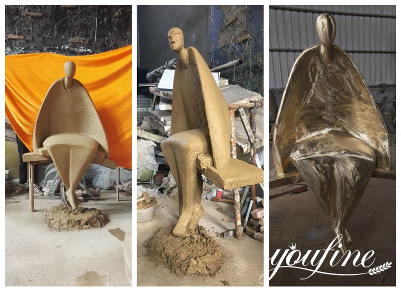 Abstract Figure Bronze Sculpture
