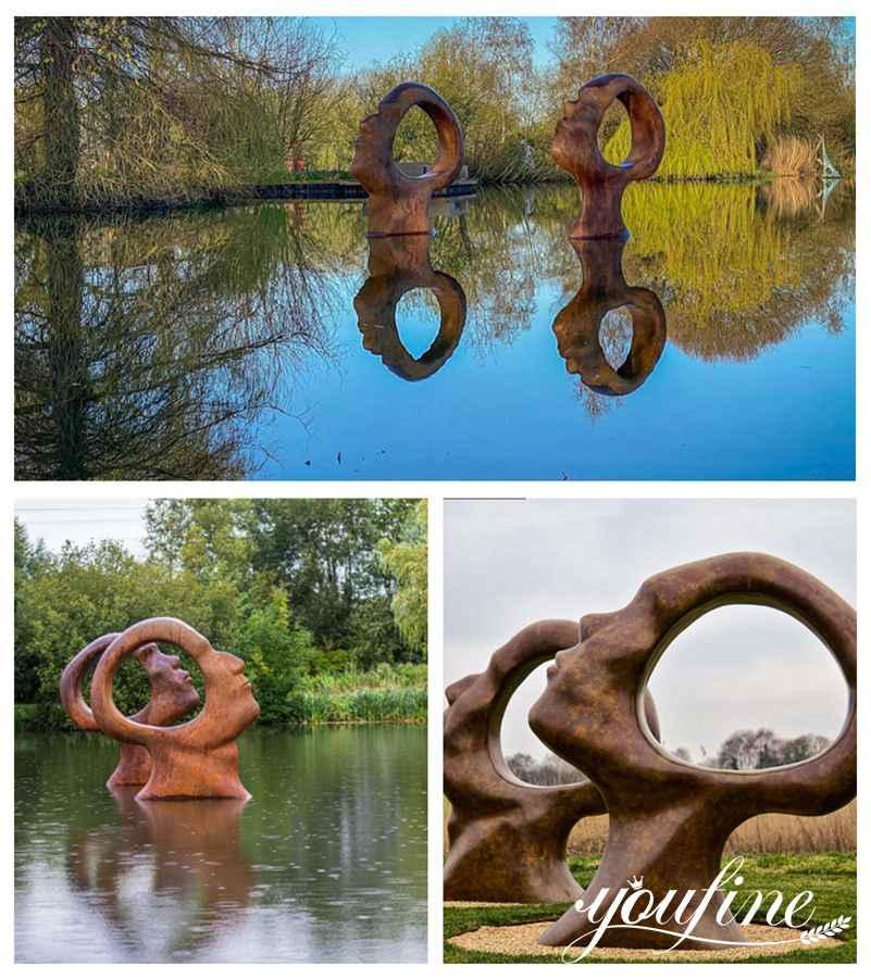 Abstract Modern Bronze Sculpture for Outdoor Garden