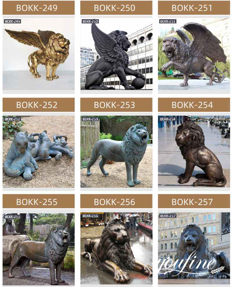 Bronze Lion Family Statues