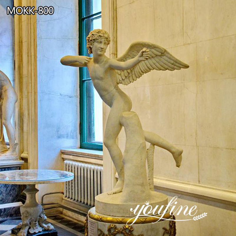 Classic Italian Hand Carved Marble Angel Statue for Garden for Sale MOKK-800