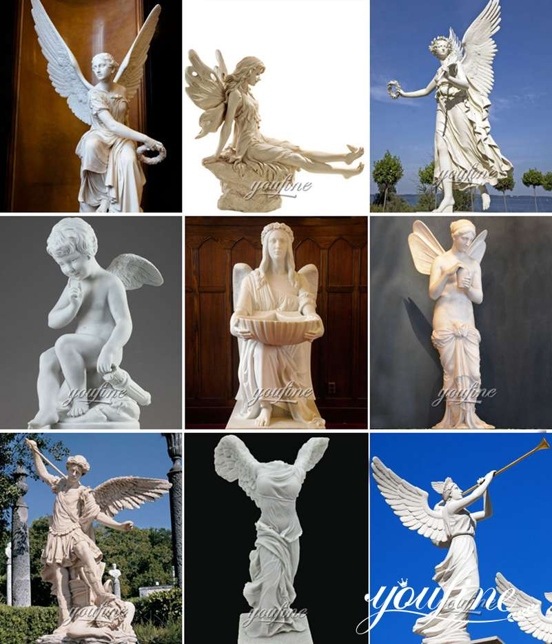 Marble Angel Statues for Garden for Sale