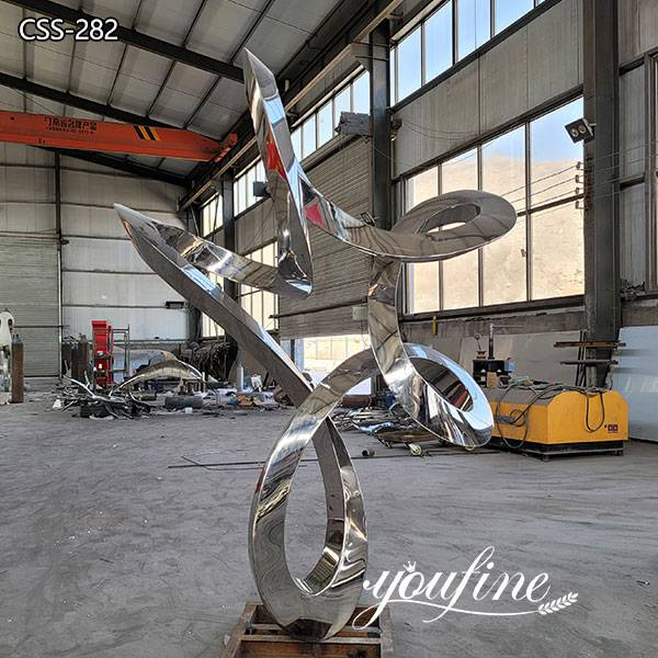 Modern Garden Abstract Outdoor Ring Metal Sculpture