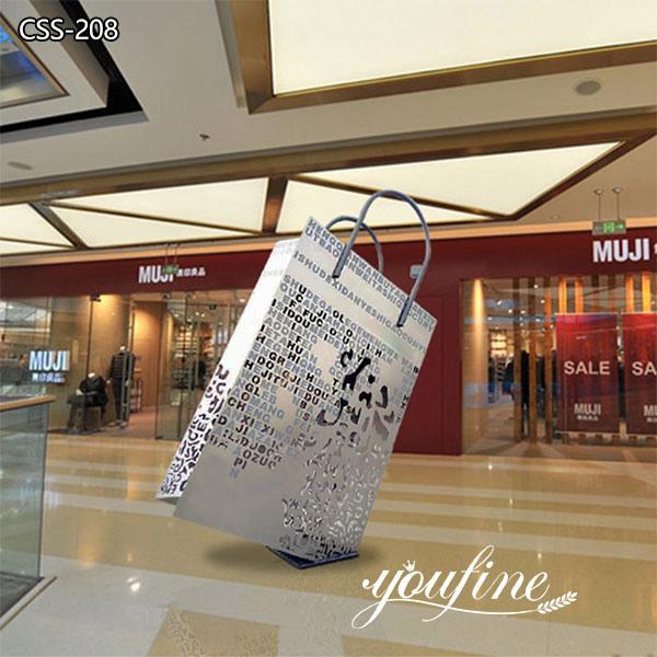 Modern Shopping Bag Metal Sculptures Modern Shopping Mall Decor