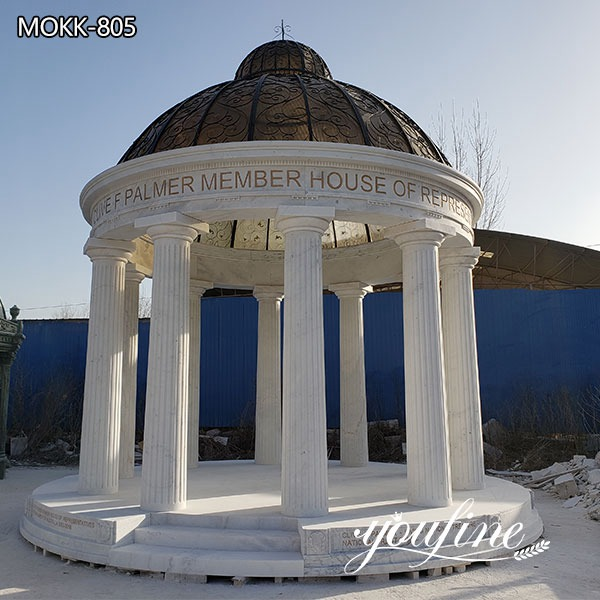 Outdoor Garden Marble Large Gazebo