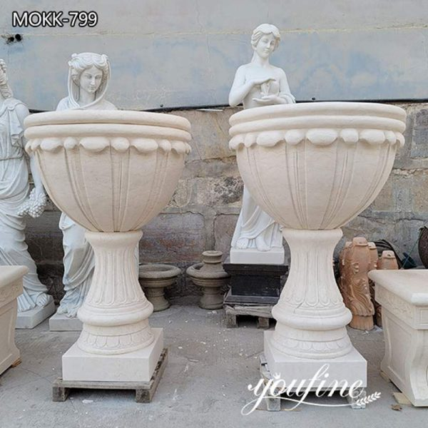 Outdoor Garden Marble Planters for Villa Park Decor for Sale
