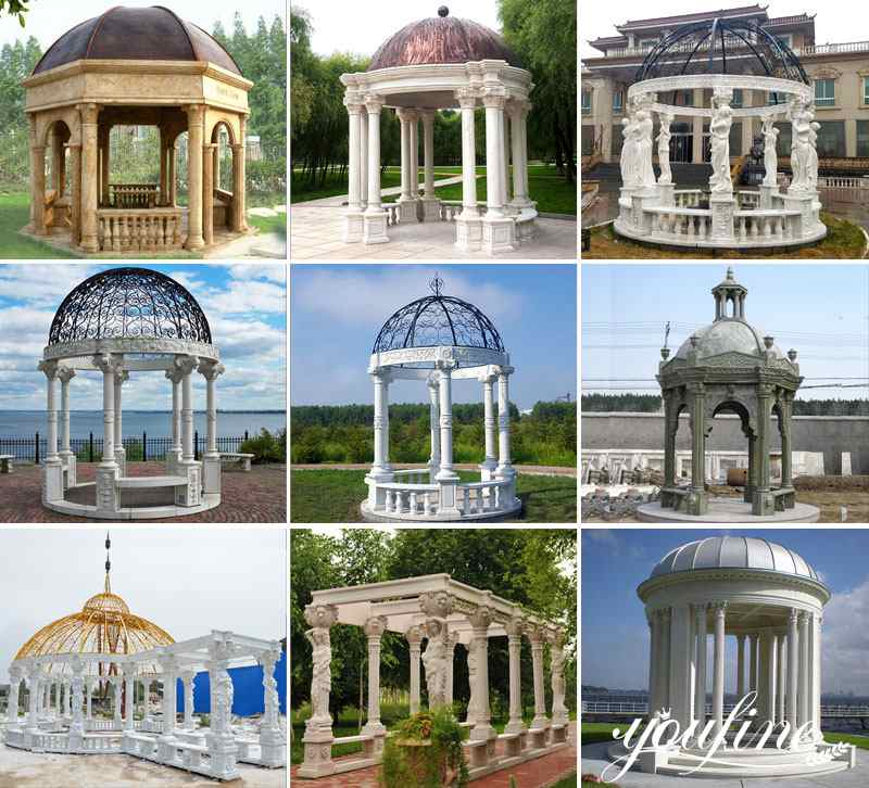 Outdoor yard marble Italy pavilion with beach factory design for sale
