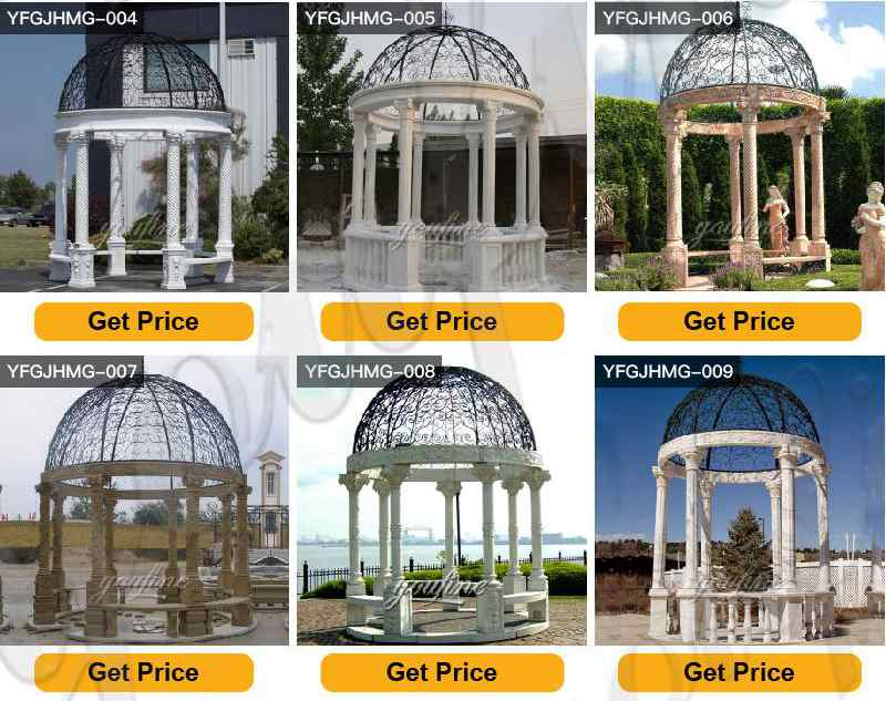 Outdoor yard marble Italy pavilion with beach factory design