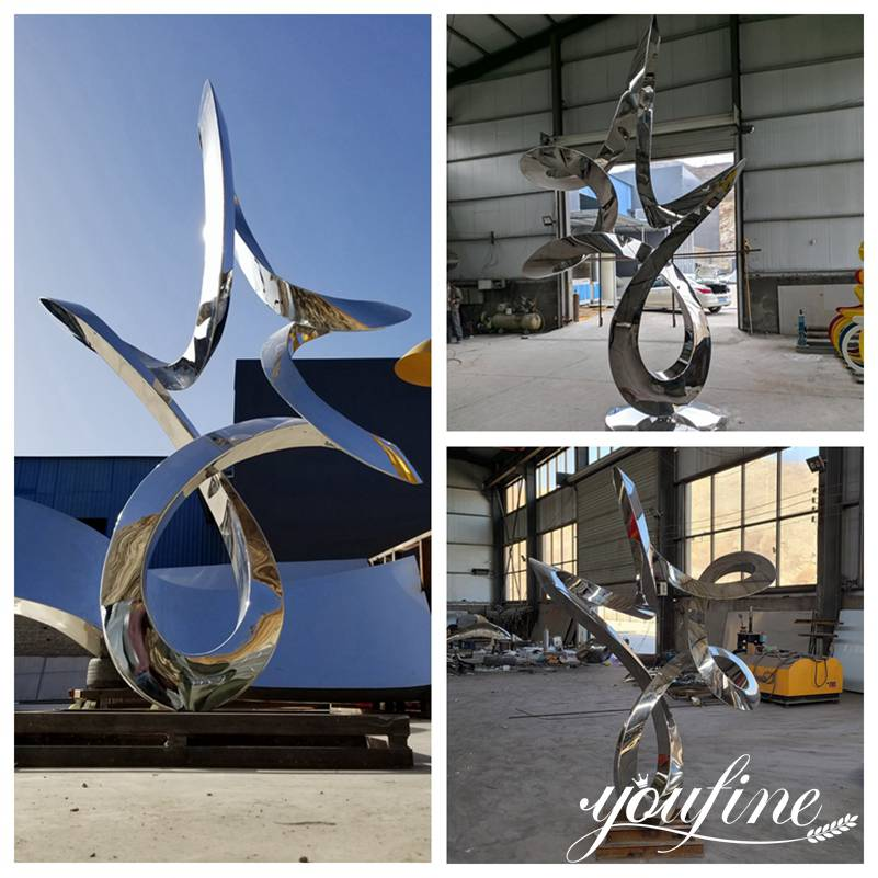 abstract outdoor metal sculpture
