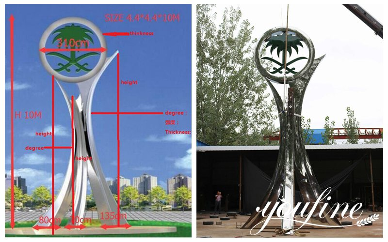 large metal sculptures