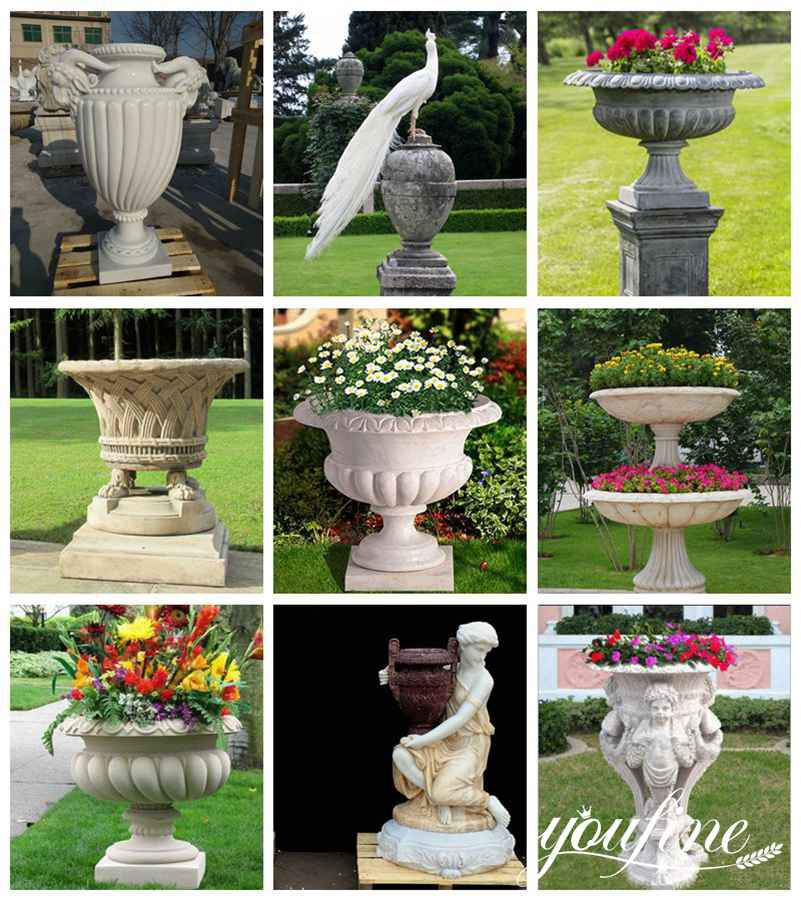 marble flower pot for sale