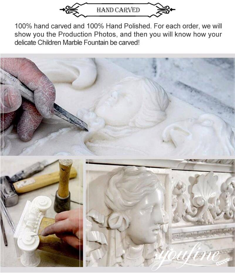 process of Life Size Marble angelSculpture