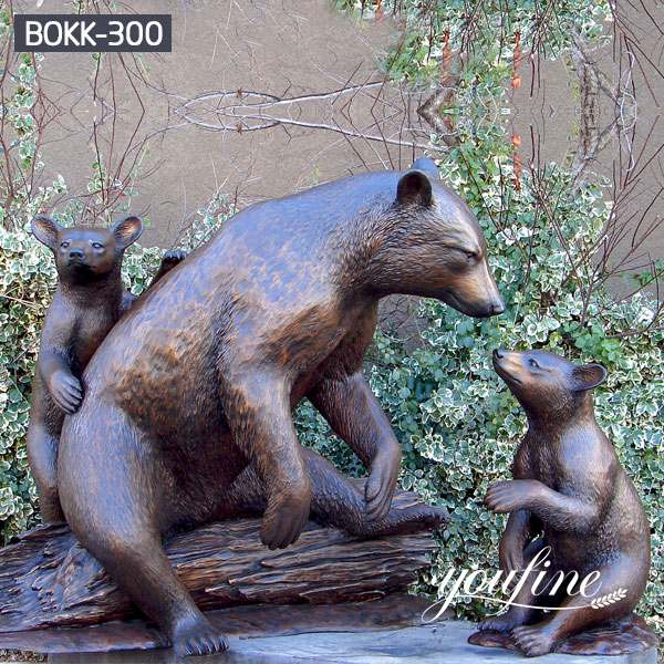 Bronze Bear Family Statue Garden Decoration for Sale BOKK-300