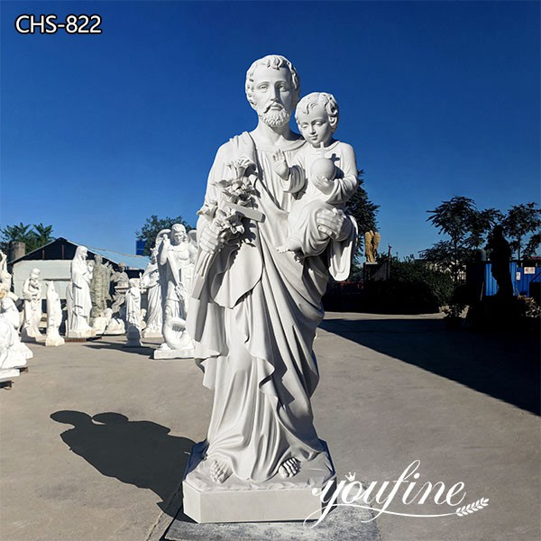Catholic Life Size St. Joseph Marble Statue Church Garden Decor CHS-822