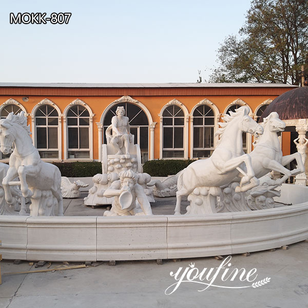 Fountain of Apollo and Rearing Horse Statue for Sale