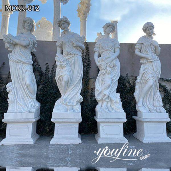 Garden Four Seasons Goddesses Marble Statues for Sale