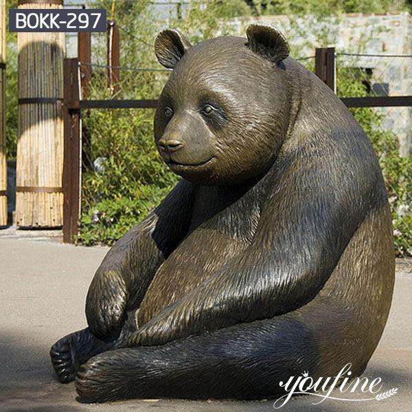 Giant panda Bear Outdoor Bronze Animal Statue for Sale BOKK-297