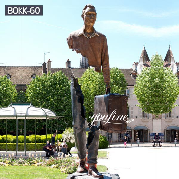 Bronze Art Statue Famous Bruno Catalano Traveller for Sale BOKK-60