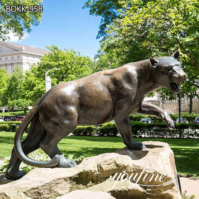 Life Size Bronze Leopard Statue Outdoor Garden Decor for Sale BOKK-958