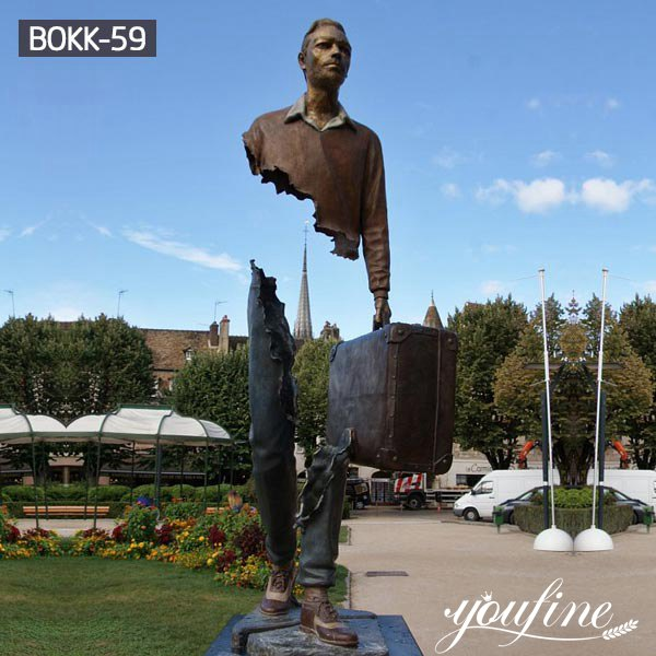 Large Size Bruno Catalano Traveller Bronze Statue Hotel Square for Sale BOKK-59