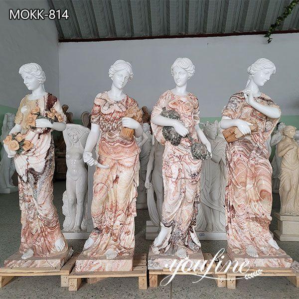 Life Size Four Seasons Marble Statues for Garden MOKK-814