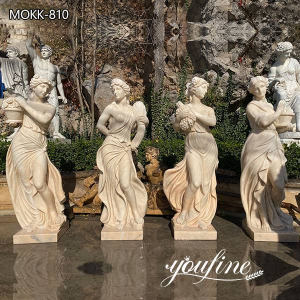 Life Size Marble Four Season Garden Statues for Sale