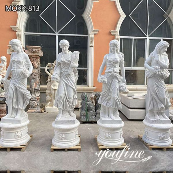 Life Size Marble Four Seasons Statues Garden for Sale