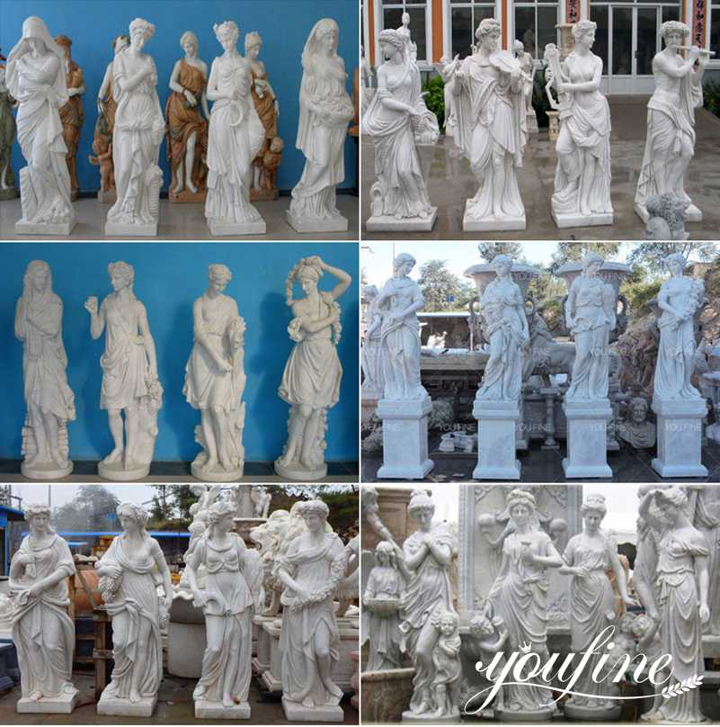 Life Size Marble Four Seasons Statues for Sale