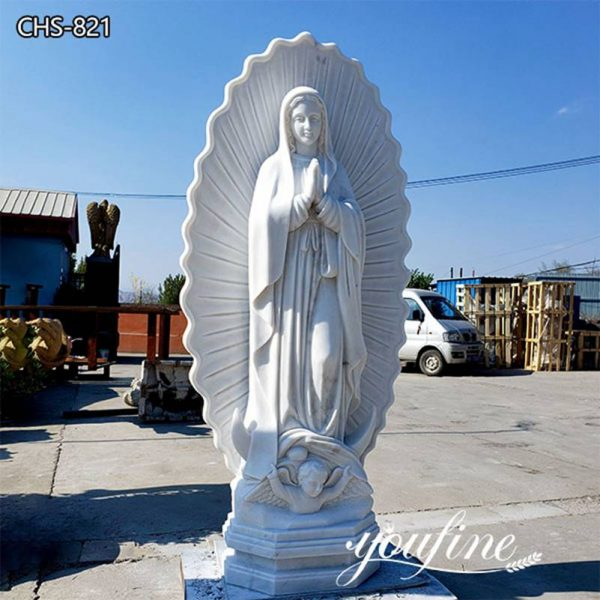 Life Size Marble Our Lady of Guadalupe Statue for Sale