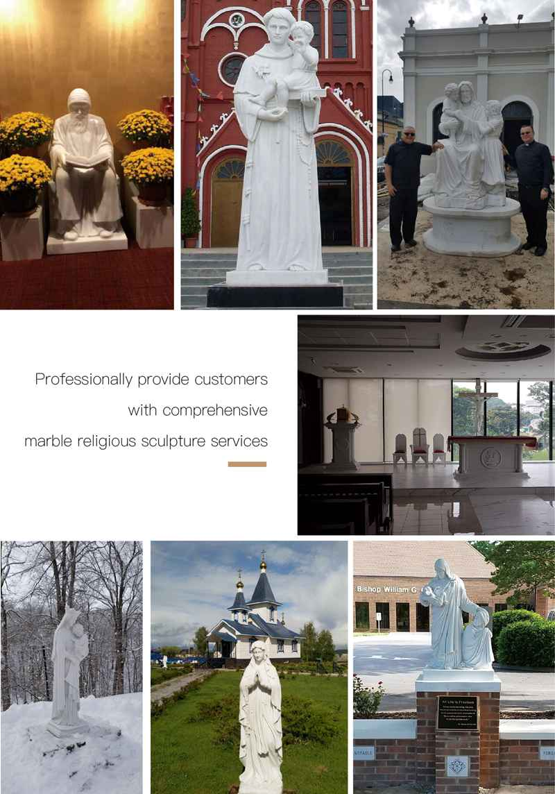 Life Size Outdoor Catholic Virgin Mary Marble Statue for Sale