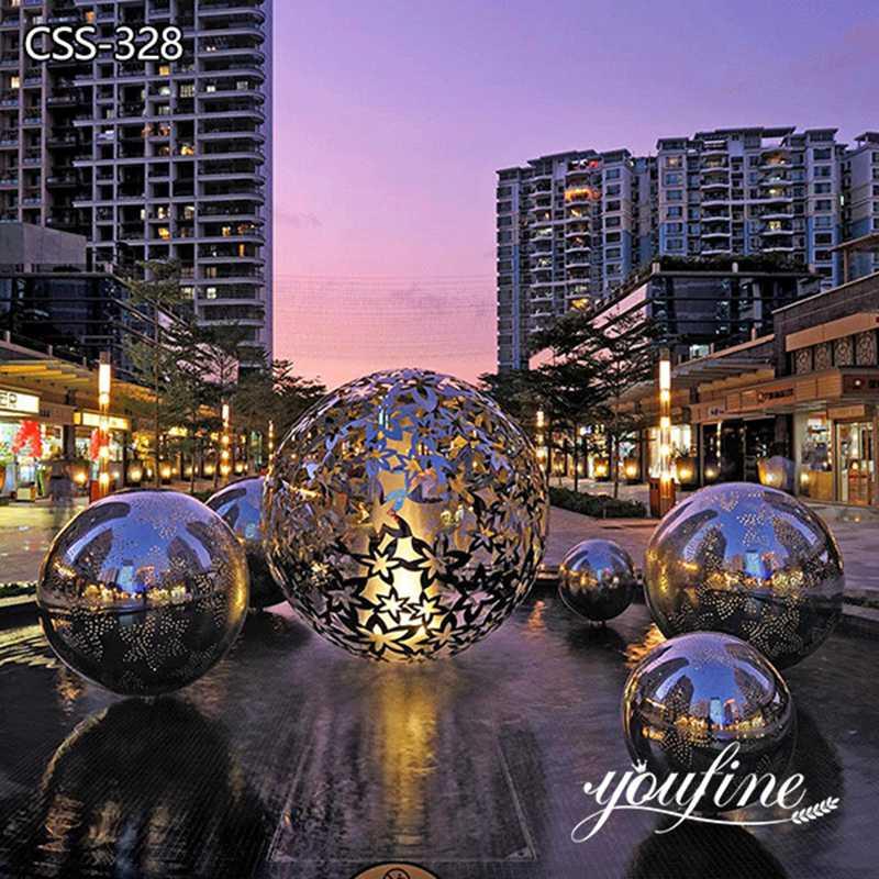 Modern Metal Light Sculpture Hollow Ball Sculpture for Sale CSS-328